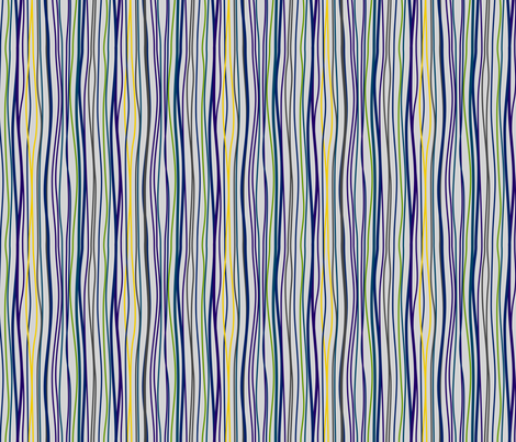 Wavy Stripes fabric by modgeek on Spoonflower - custom fabric
