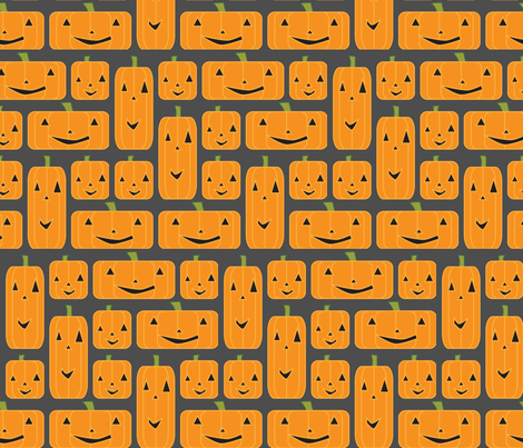 Mod Jack-o-lanterns fabric by thecalvarium on Spoonflower - custom fabric