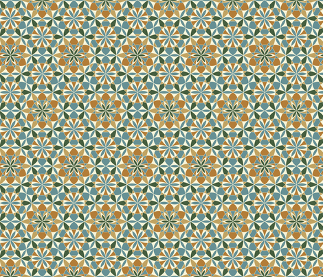 Maroccan landscape fabric by andrea11 on Spoonflower - custom fabric