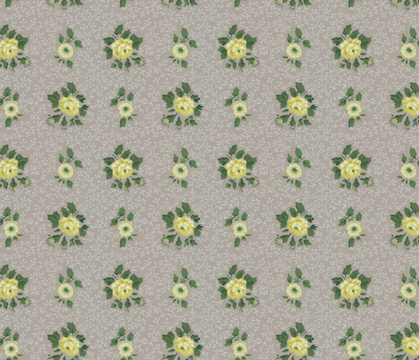Antique Vintage Retro Floral Wallpaper fabric by jodielee on Spoonflower - custom fabric