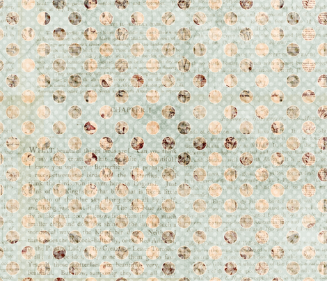 Shabby Chic grungy spotted  fabric by jodielee on Spoonflower - custom fabric