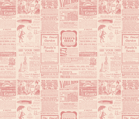 Vintage Antique Gardening Magazine  fabric by jodielee on Spoonflower - custom fabric