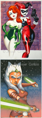 Ahsoka, Poison Ivy, and Harley Quinn