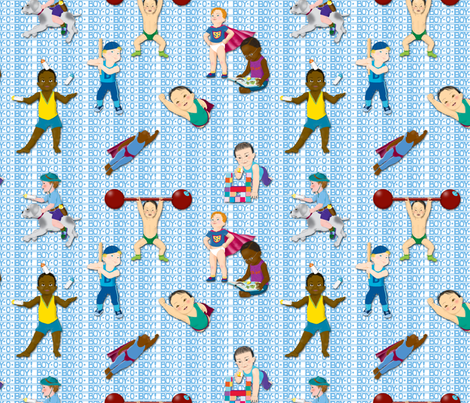 Boy-O-Boy-O-Boy!_Medium fabric by tallulahdahling on Spoonflower - custom fabric