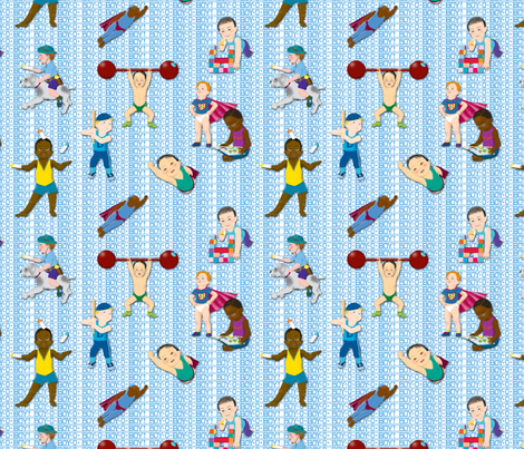 Boy-O-Boy-O-Boy!_Small fabric by tallulahdahling on Spoonflower - custom fabric