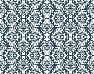Antique carpet in black and white fabric by mihaela_zaharia on Spoonflower - custom fabric