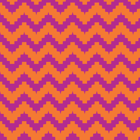 chevron orange and purple fabric by ravynka on Spoonflower - custom fabric