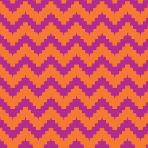 chevron orange and purple