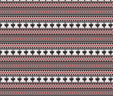 Kitty Fairisle fabric by lovekittypink on Spoonflower - custom fabric