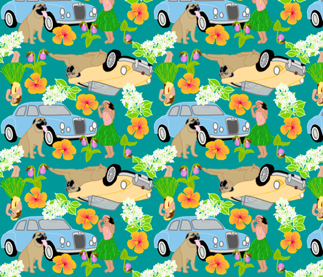 hawaiian fabric by roxiespeople on Spoonflower - custom fabric