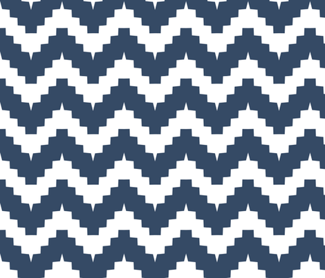 chevron navy fabric by ravynka on Spoonflower - custom fabric