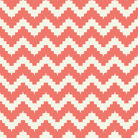 chevron coral fabric by ravynka on Spoonflower - custom fabric