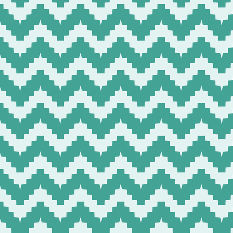 chevron teal fabric by ravynka on Spoonflower - custom fabric
