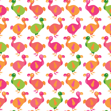Do dodos do pink? fabric by ebygomm on Spoonflower - custom fabric