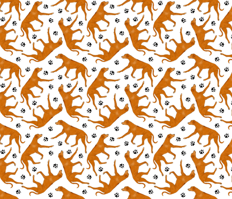 Trotting Rhodesian ridgeback fabric by rusticcorgi on Spoonflower - custom fabric