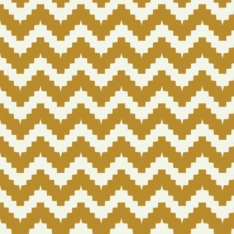 chevron mustard fabric by ravynka on Spoonflower - custom fabric
