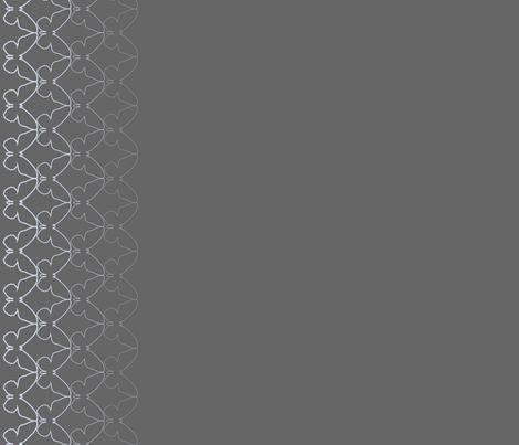 butterflies border print grey fabric by lazydee on Spoonflower - custom fabric
