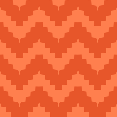 chevron all orange fabric by ravynka on Spoonflower - custom fabric