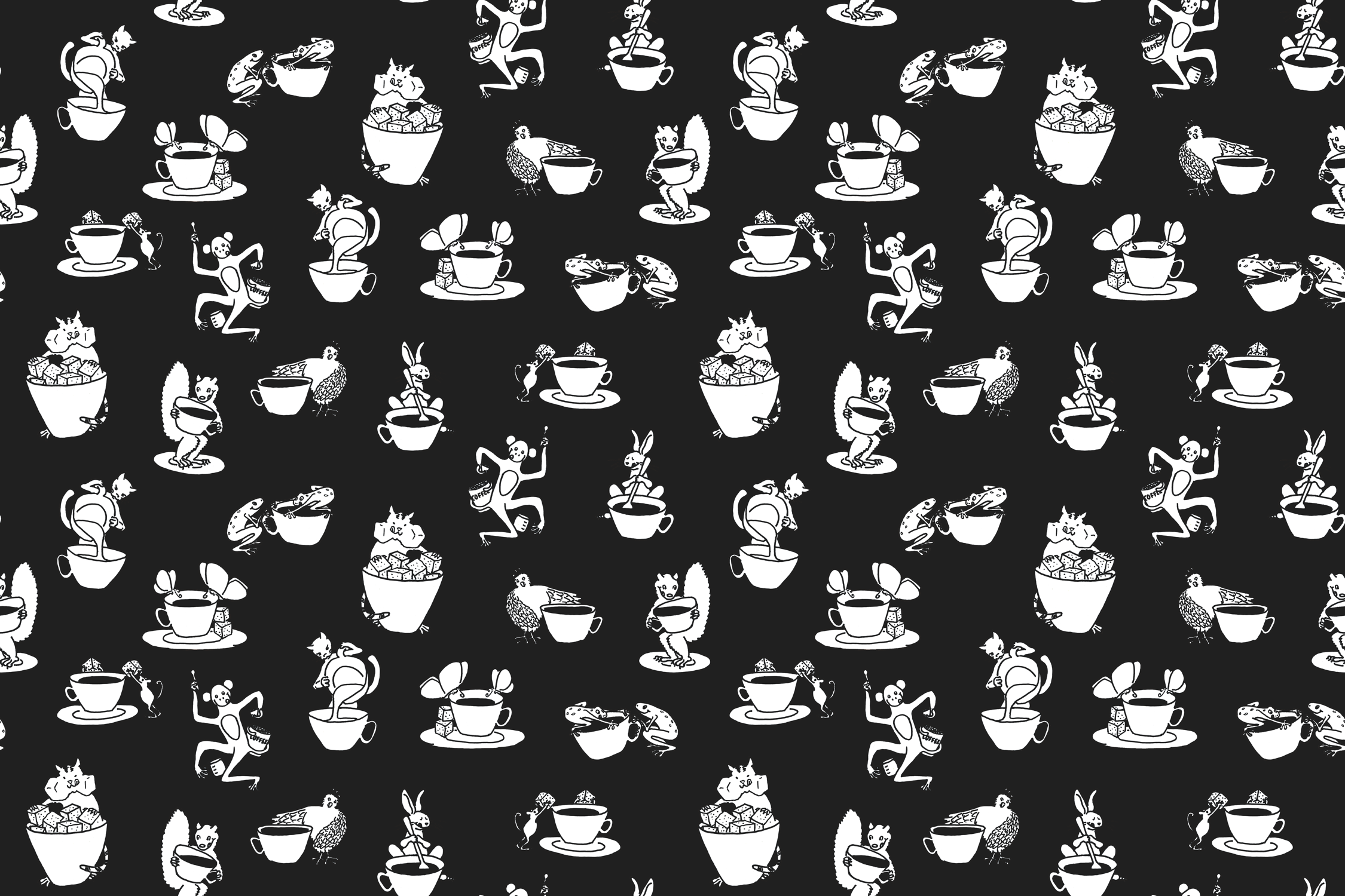 midnight coffee fabric by weavingmajor on Spoonflower - custom fabric