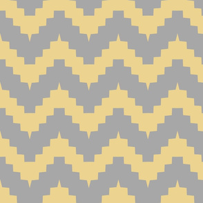 chevron gray and yellow
