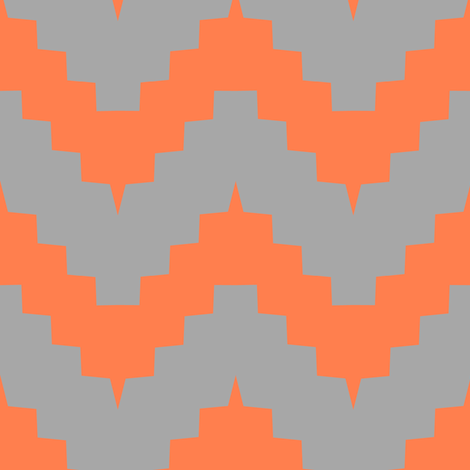 chevron gray and tangerine