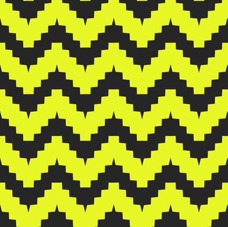 chevron black and yellow fabric by ravynka on Spoonflower - custom fabric