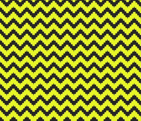 chevron black and yellow fabric by ravynka on Spoonflower - custom fabric