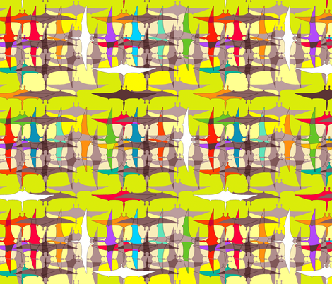 acid pterodactyl weave fabric by scrummy on Spoonflower - custom fabric