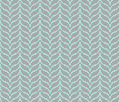 wheat sheaf mint/gray fabric by jenr8 on Spoonflower - custom fabric
