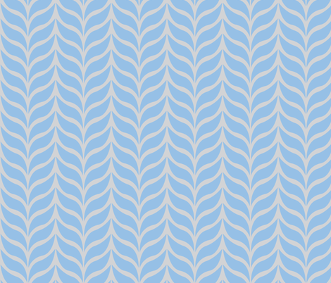wheat sheaf blue/gray fabric by jenr8 on Spoonflower - custom fabric