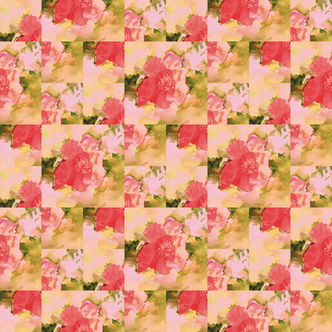 Pomegranate Flower Montage fabric by animotaxis on Spoonflower - custom fabric