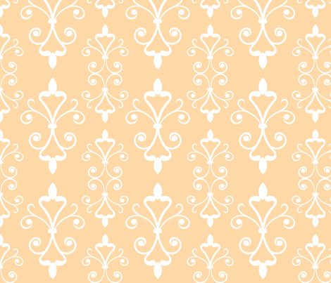 Orange Scroll fabric by christiem on Spoonflower - custom fabric