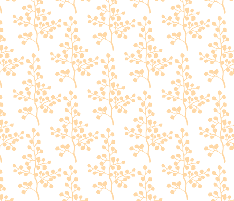 Orange Branch fabric by christiem on Spoonflower - custom fabric