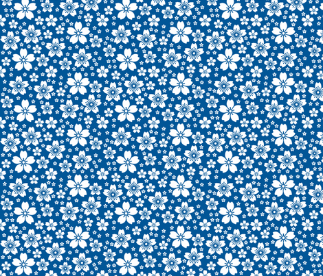 Blue Ditsy fabric by christiem on Spoonflower - custom fabric