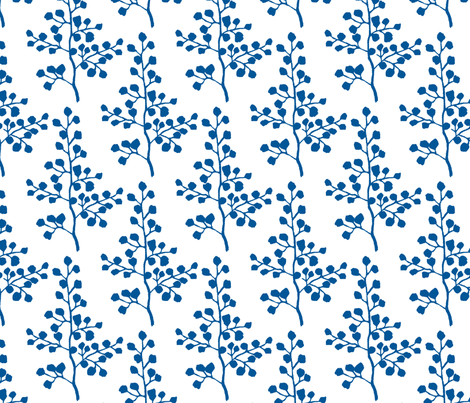 Blue Branch fabric by christiem on Spoonflower - custom fabric