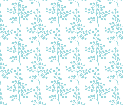 Turquoise Branch fabric by christiem on Spoonflower - custom fabric