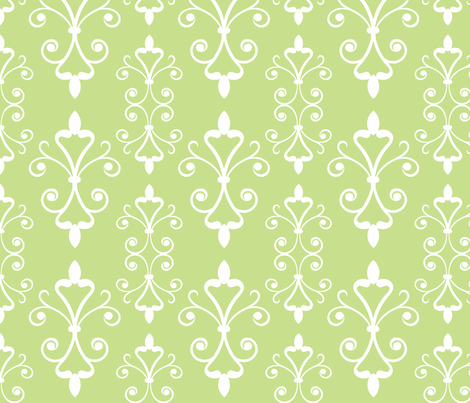 Grass Scroll fabric by christiem on Spoonflower - custom fabric