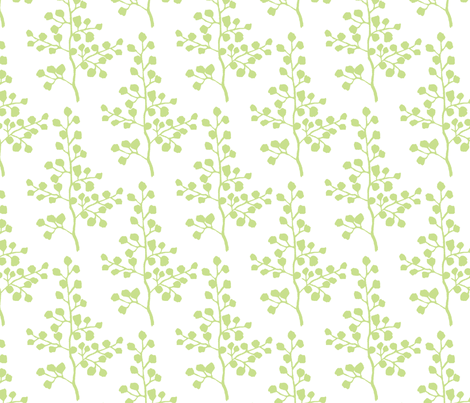 Grass Branch fabric by christiem on Spoonflower - custom fabric