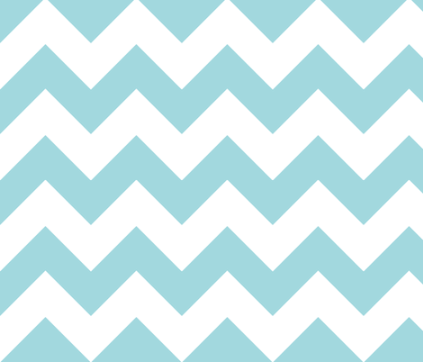 chevron turquoise fabric by christiem on Spoonflower - custom fabric