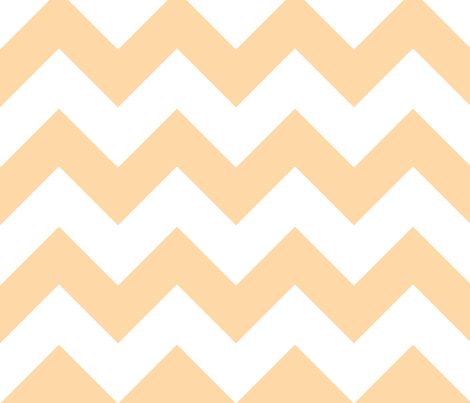 chevron orange fabric by christiem on Spoonflower - custom fabric