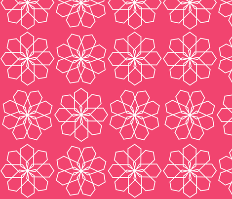 geo_9_pink fabric by bexcaliber on Spoonflower - custom fabric