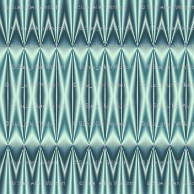 Ruching  -aqua