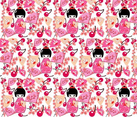 SUKIYAKI fabric by bluevelvet on Spoonflower - custom fabric