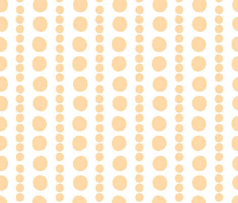 orange on white pebbles fabric by christiem on Spoonflower - custom fabric
