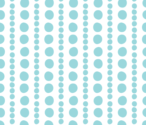 turquoise on white pebbles fabric by christiem on Spoonflower - custom fabric