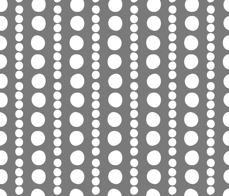 white on grey pebbles fabric by christiem on Spoonflower - custom fabric