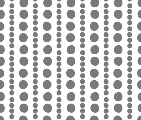 grey on white pebbles fabric by christiem on Spoonflower - custom fabric