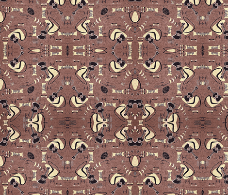 Island Guitar fabric by flyingfish on Spoonflower - custom fabric