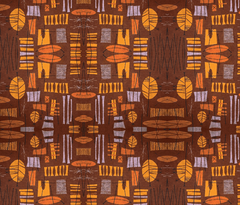 Tiki Village-ch fabric by flyingfish on Spoonflower - custom fabric