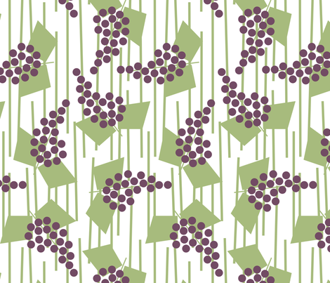 Geometric grapes  fabric by victorialasher on Spoonflower - custom fabric